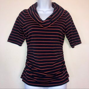 The Limited Striped Cowl Neck Blouse